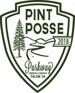 Parkway Pint Posse badge Parkway Brewing Company Salem Roanoke Virginia Craft Beer